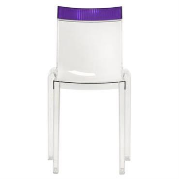 Chaise empilable Hi Cut transparente / Polycarbonate - Kartell violet