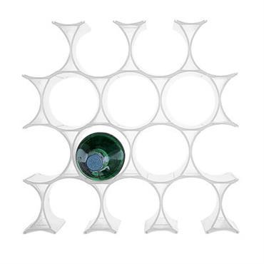 Casier à bouteilles Infinity - Kartell blanc en matière plastique