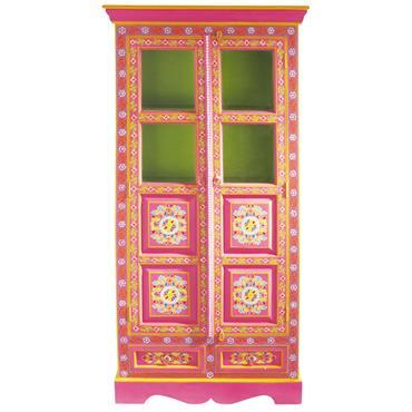 Retrouvez les couleurs chatoyantes de l'Inde avec l'armoire Roulotte. Ce meuble de style indien en bois est minutieusement décoré de motifs peints à la main. Issu de l'artisanat indien, cette ...