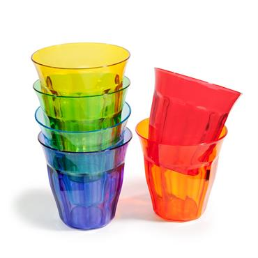 Fun et colorés, ces gobelets multicolores mettront de la bonne humeur sur votre table. A emporter partout, ces verres en plastique s'inviteront lors d'une fête en terrasse ou d'un déjeuner ...