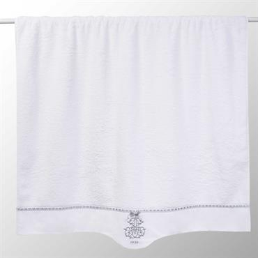 Drap de bain en coton blanc 100x150 SIÈCLE