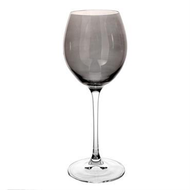 Verre à eau en verre teinté gris