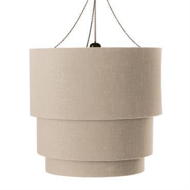 Suspension triple non électrifiée en coton beige D 40 cm TAMBOUR