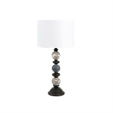Lampe avec abat-jour en tissu blanc H 52 cm ANOMAKANIE