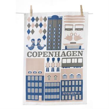 Torchon Copenhagen - Ferm Living Bleu