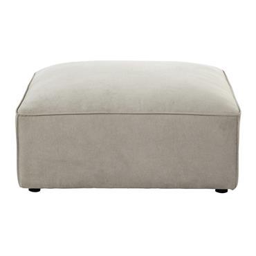 Pouf de canapé modulable en tissu beige Malo