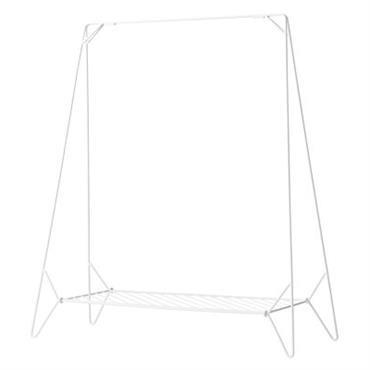 Portant Anker / L 130 cm - Pliable - Menu Blanc en Métal