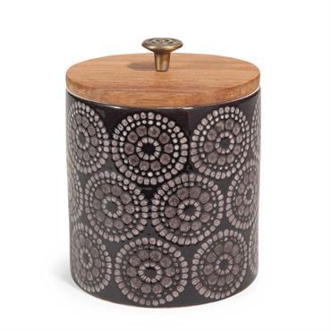 Bocal en céramique noire H 11 cm TRIBU