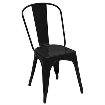 Chaise empilable A / Acier - Couleur brillante - Tolix noir brillant