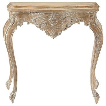 Table console en manguier blanchi effet vieilli L 86 cm Neuilly