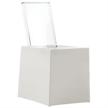 Chaise Miss Less / Plastique - Dossier transparent - Kartell blanc