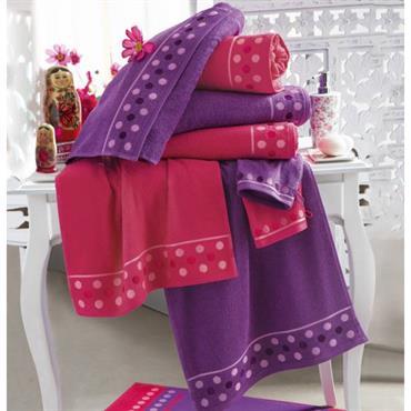 Envie d´évasion Eponge 100% coton, 400 g/m² Lavable à 60° Finition liteau jacquard avec motifs en relief