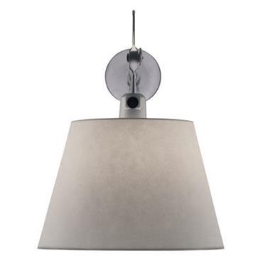 Applique Tolomeo Ø 24 cm - Artemide gris en métal