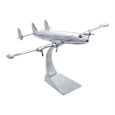 Avion déco en métal 31 x 50 cm