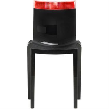 Chaise empilable Hi Cut noire / Polycarbonate - Kartell rouge
