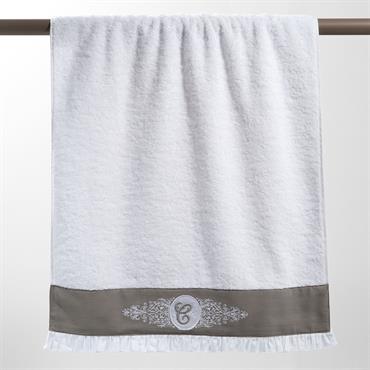 Drap de bain en coton blanc 100 x 150 cm COLLECTION C