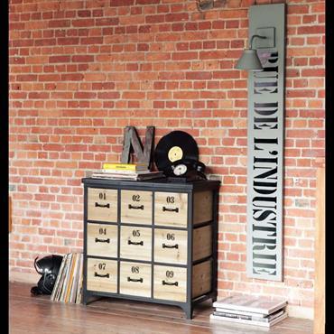 Meuble cd/dvd en métal noir H 78 cm Docks