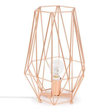 Lampe en métal H 29 cm ORIGAMI COPPER