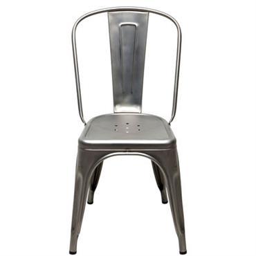 Chaise empilable A / Acier brut - Tolix acier brut verni satiné