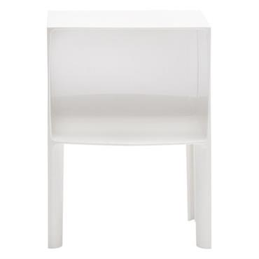 Table de chevet Small Ghost Buster - Kartell blanc opaque en matière plastique
