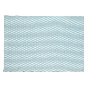 Tapis en coton bleu 140 x 200 cm ORIGAMI