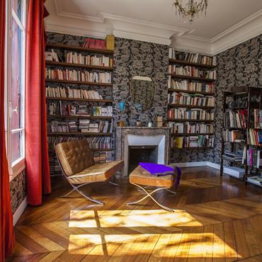 Ambiance baroque dans cette bibliothèque