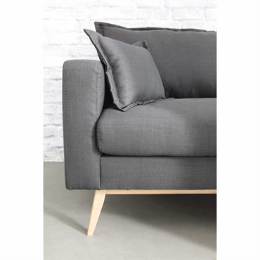 Canapé 3 places en tissu brun grisé Duke