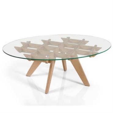 Table basse ovale Mélody