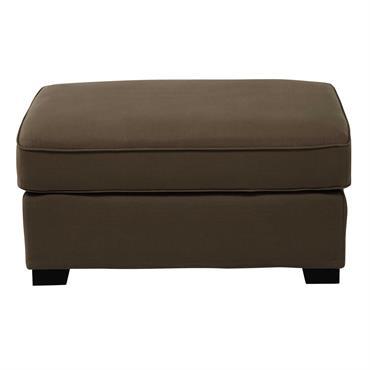 Pouf de canapé modulable en coton taupe Milano