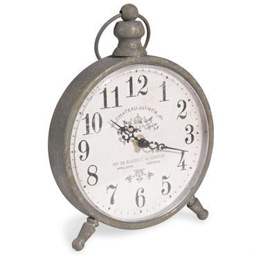 Horloge à poser en métal 17x21