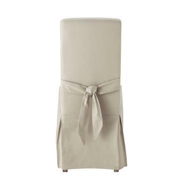 Housse de chaise avec nud en coton mastic Margaux
