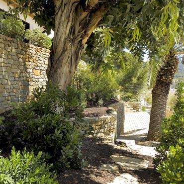 Murs en restanques, jardin méditerranéen