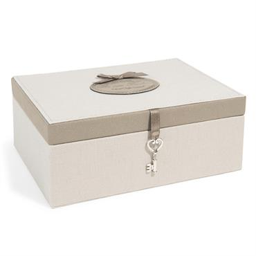 Boîte à bijoux en tissu H 9 cm ARISTO
