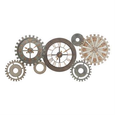 Horloges rouages en métal patiné L164