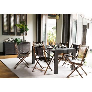 Table de salle à manger en manguier massif L 160 cm Java