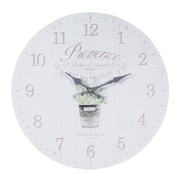 Horloge en bois D 34 cm THYM PROVENCALE