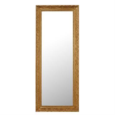 Miroir en bois de paulownia doré H 145 cm VALENTINE