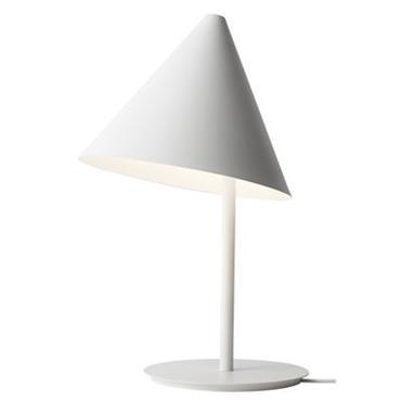 Lampe de table Conic / H 50 cm - Menu blanc en métal