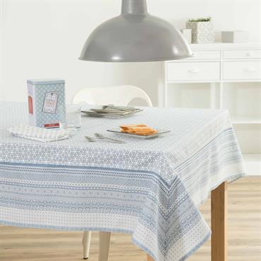 Nappe en coton bleue 170 x 310 cm FJORD