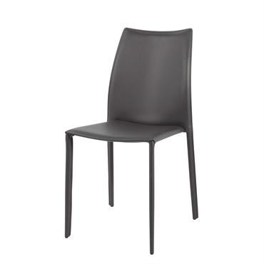 Chaise en synderme gris Klint