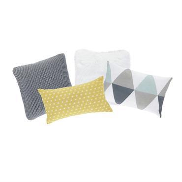 4 coussins multicolores 25 x 40 cm à 30 x 50 cm NORDIQUE
