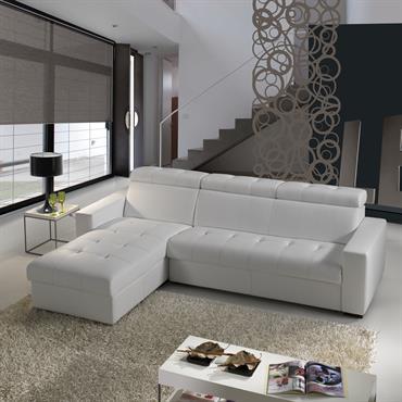Un Canapé Convertible Angle d'un design italien. Équipé d'un matelas de 13 cm, il vous assure un excellent confort pour d'agréables nuits de sommeil. Le Canapé Nomo se transforme en ...