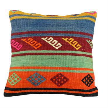 Coussin en kilim coloré