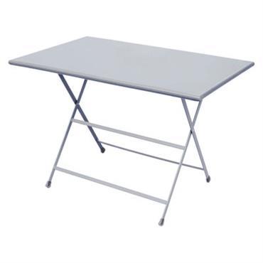 Table pliante Emu design Aluminium en Métal. Dimensions : L 110 cm x l 70 cm x H 74 cm. Légère, colorée et accessible, la collection Arc en Ciel aspire ...