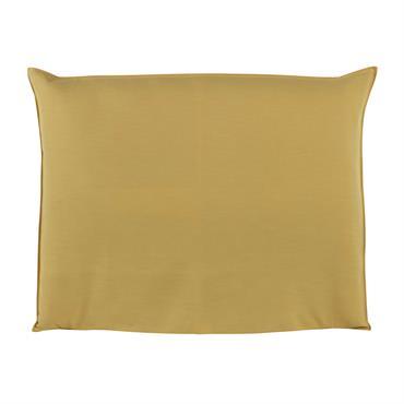 Housse de tête de lit 140 jaune moutarde Soft