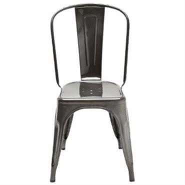 Chaise empilable A / Acier brut - Pour l´intérieur - Tolix acier
