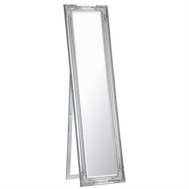 Miroir psyché argent H 164 cm ENZO