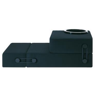 Chauffeuse convertible Trix / Lit d´appoint - Kartell noir en tissu