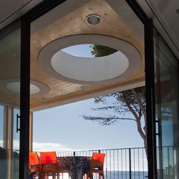 Puits de lumière en terrasse