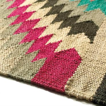 Tapis tressé en laine multicolore 160 x 230 cm ACAPULCO